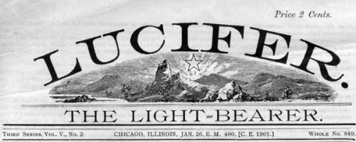 Lucifer Light Bearer Journal | Eugenics Illuminati Negro