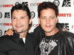Corey Feldman (left) with the now-deceased Corey Haim.