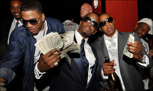 Diddy-Jay-Z-holding-cash Rick Ross and P. Diddy s Holy Ghost - More Satanic Blasphemy