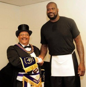 Shaq O'Neal at Freemason gathering.