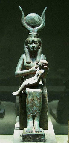 Isis-with-child-Horus Ye Shall Be as Gods : Madonna s Super Bowl Occult Satanic Ritual