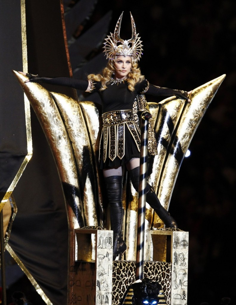 Madonna-Standing-throne-illuminati-satanic-792x1024 Ye Shall Be as Gods : Madonna s Super Bowl Occult Satanic Ritual