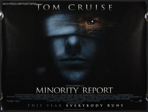 Minority Report Movie Poster | Illuminati New World Order Surveillance State