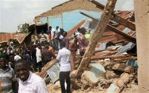 Nigerian Church Bombing Rubble | Christian Perseuction