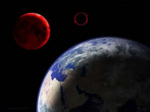 Sixth Seal Red Moon rapture Black Sun | Peter Goodgame Redmoon Rising