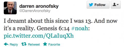 Darren Aronofsky Noah Film Tweet | A Christian review
