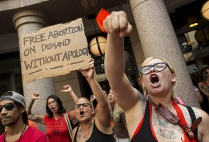 Pro-Choice Rally Activists Chant Hail Satan | Texas HB2 Debate